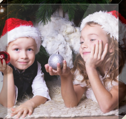 Kids Holiday Photo Block